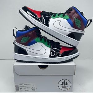 "Nike Air Jordan 1 Retro Mid SE ""Multi-color"" NEW"